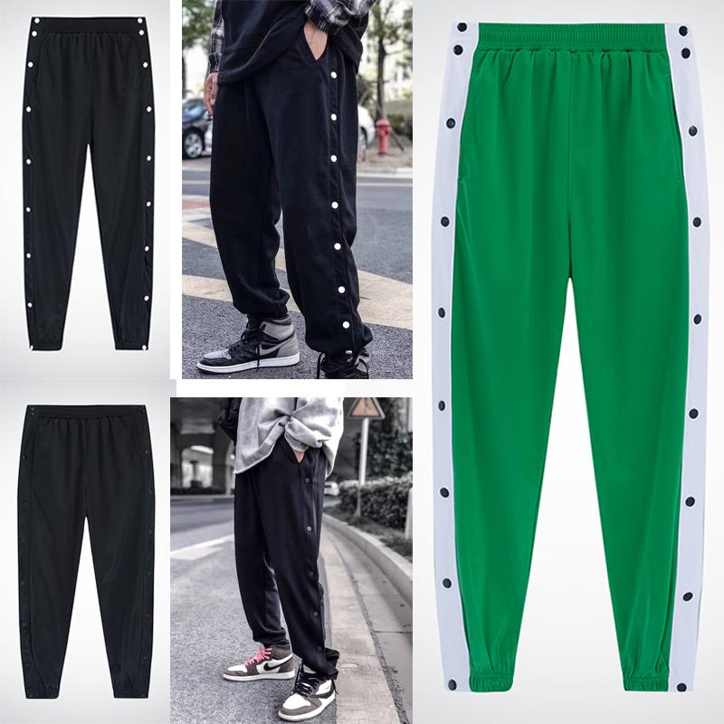 Full open button pants full open button pants full open basketball pants appearance pants basketball training pants corset pants