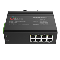 Feel the 6508G Gigabit Industrial Switch 8 industrial-grade fiber switch DIN rails IP40 redundancy