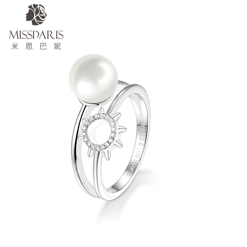 Missdaris missbani Provence fashion ring sunflower pearl ring European and American style accessories