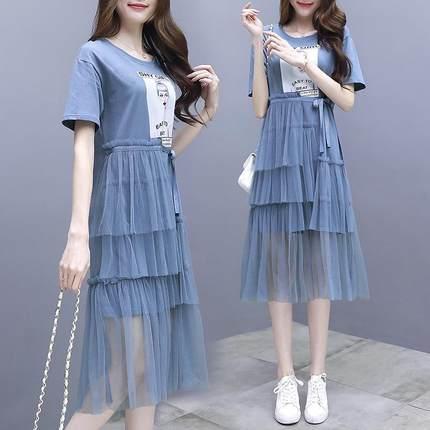218大码女装夏装新款200斤连衣裙