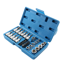 Batch Type E sleeve set large fly 1 2 flower type inner hexagonal sleeve rotary Casing batch combination hardware tool