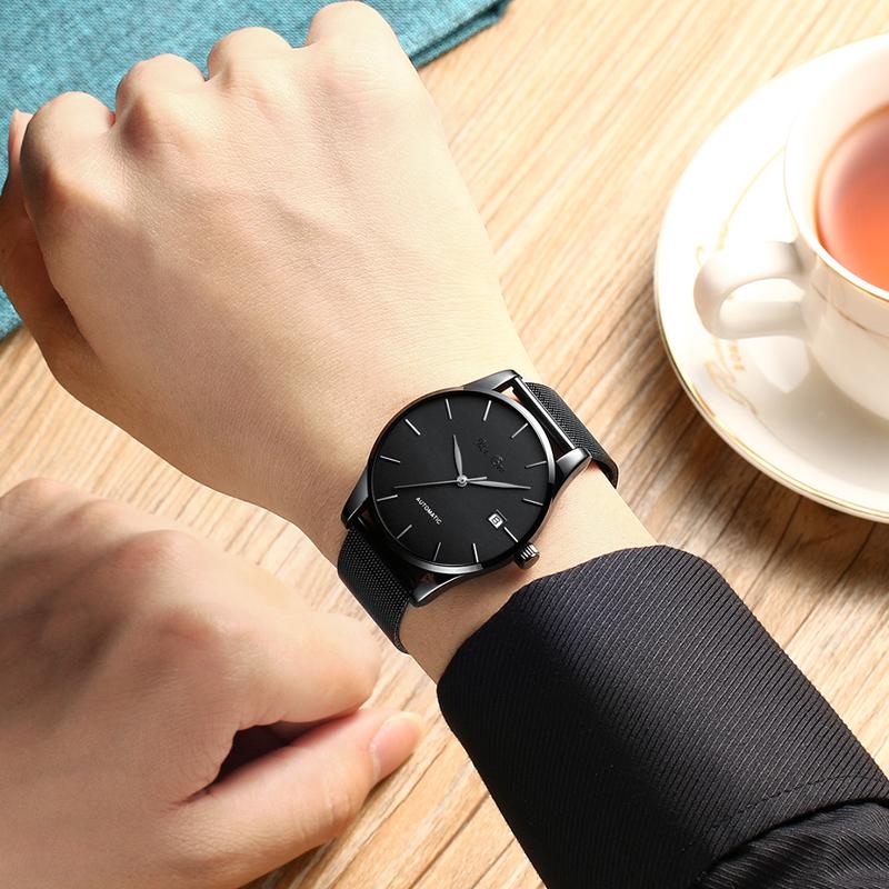 新款概念学生 2018 圣布雷手表男机械表防水时尚简约男士手表潮流