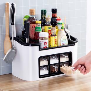 调料盒家用厨房用品收纳盒调味罐调味品盐罐调料瓶罐子置物架套装图片