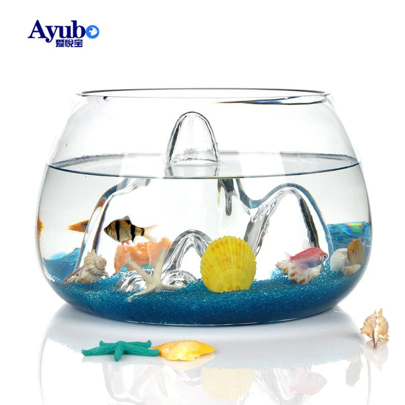 魚缸水族箱 生態金魚缸玻璃魚缸透明山水魚缸辦公室桌麵造景