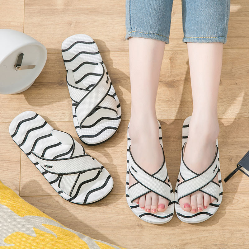 Home Slippers Women Summer Indoor Lovers Soft-soled Men's Slip-proof Bathroom Home Sandals Women's Home