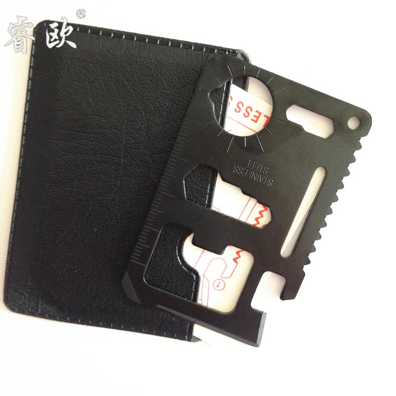 2016加厚多功能军刀卡片附送皮套户外出行春游工具钥匙男友礼物