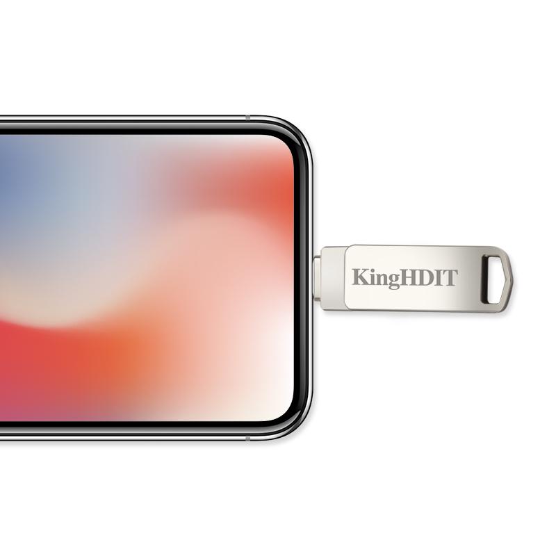 王者苹果手机电脑两用U盘128g64G32g三用iPhoneX876 ipad高速优盘