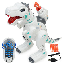 Children intelligent electric remote control dinosaur toys rechargeable multifunctional puzzle spray Tyrannosaurus dinosaurs model C