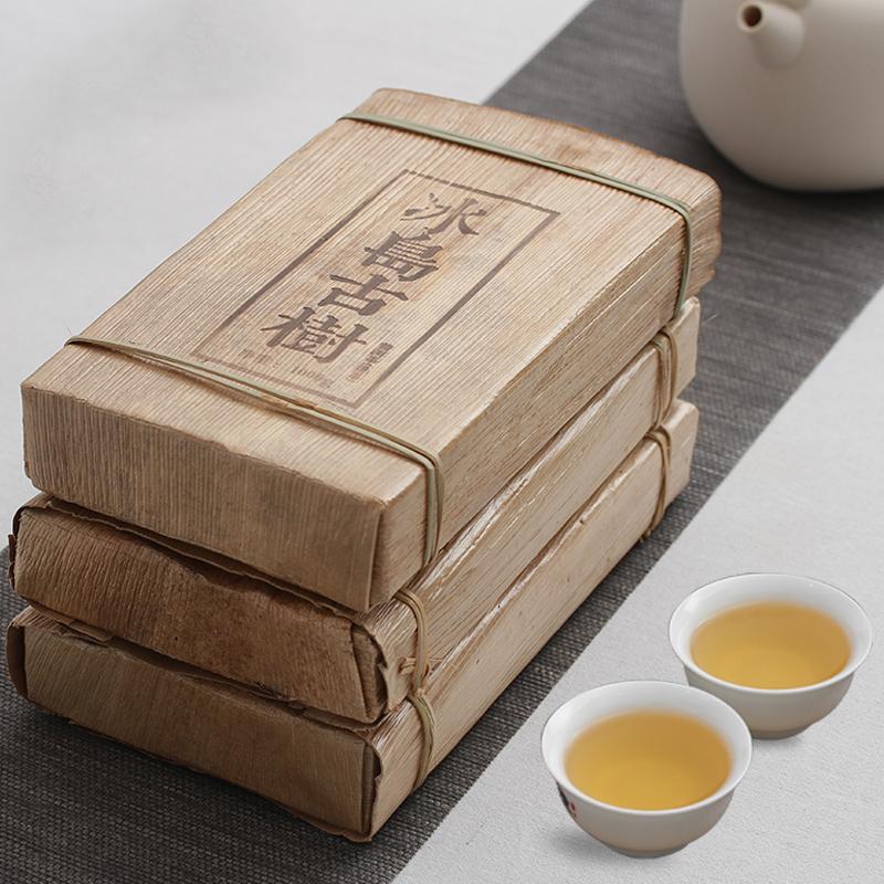 千日醉茶庄 云南普洱茶 生茶 冰岛古树茶 黄金叶黄片砖茶 1000克