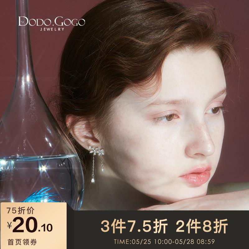适合圆脸的耳环女长款气质韩国夏天显瘦超仙耳夹耳坠网红耳钉耳饰图片