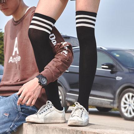 长筒袜女过膝日系韩国学院风运动长袜子高筒足球袜潮夏薄款英伦风