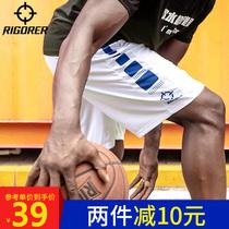 准者篮球裤运动短裤男跑步健身宽松背心透气训练薄款五分速干短裤