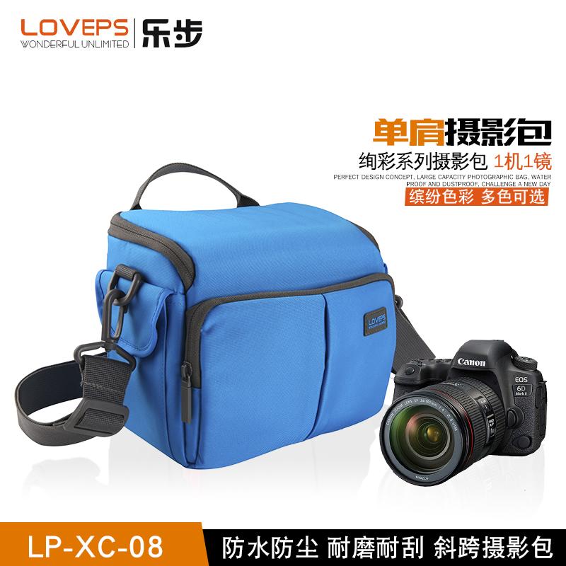 LOVEPS微单反相机包佳能700D索尼康防水数码包轻便单肩斜跨摄影包
