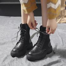 网红瘦瘦靴高筒靴ins新款秋季百搭过膝2019马丁靴女英伦风长靴ann