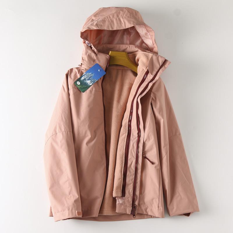 WT543 日本DA 可拆卸摇粒绒内胆 防风防水三合一冲锋衣外套女