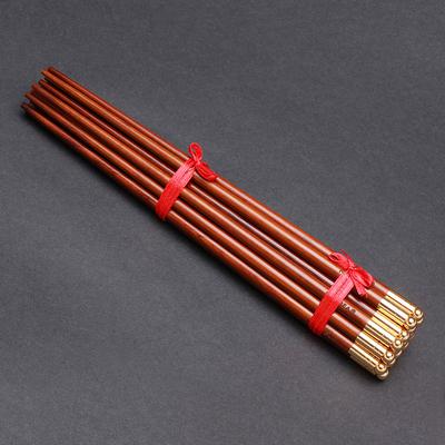 4krbc级蛇纹木金圆珠筷子家用10双装餐具餐筷/婚庆快子,可领取100元天猫优惠券