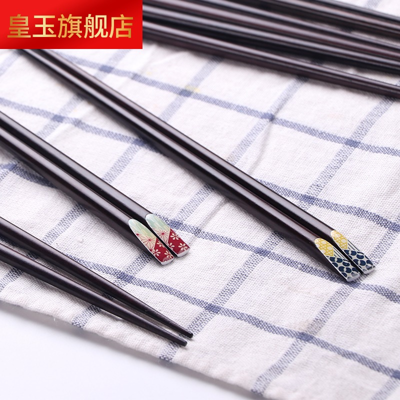 3MS 日式樱花指甲木筷 家用酸枣木尖头筷子 创意个性筷子,可领取15元天猫优惠券