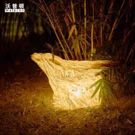 户外灯防水庭院景观装饰灯创意田园花园公园仿石树脂草坪灯饰灯具图片