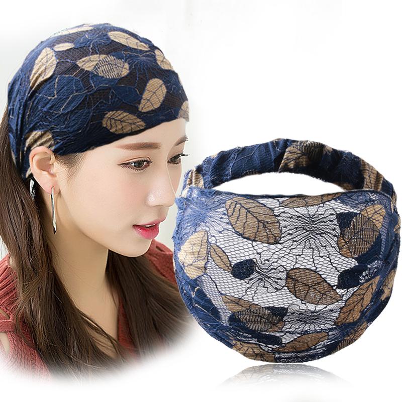 韩国宽边蕾丝发带女夏季遮白发头箍日常外戴洗脸发箍压发头巾头饰