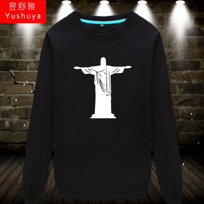 耶稣基督教圆领卫衣男女上帝天主宗教衣服教会唱诗班长袖薄款秋衣,可领取2元天猫优惠券