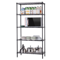 Kitchen rack Metal living room five-storey storage rack landing provincial Space storage rack multi-layer shelf