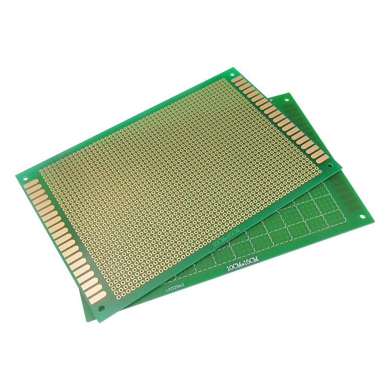 绿油万用万能板电路板洞洞板面包PCB线路板 10*15cm 实验板 焊接