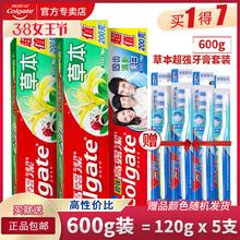 高露洁草本超强成人牙膏600g套装