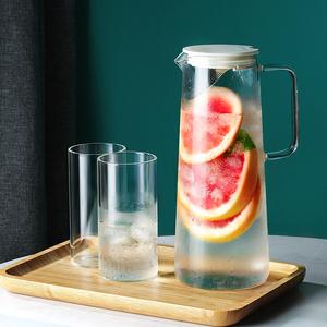 日式耐热耐高温玻璃凉水晾白开水杯冷水壶茶壶家用大容量北欧套装