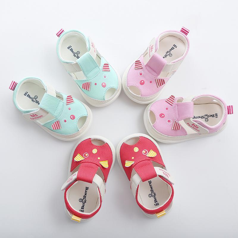 2019婴儿学步鞋子软底一岁男宝宝凉鞋女夏季1-2岁透气防滑春秋款