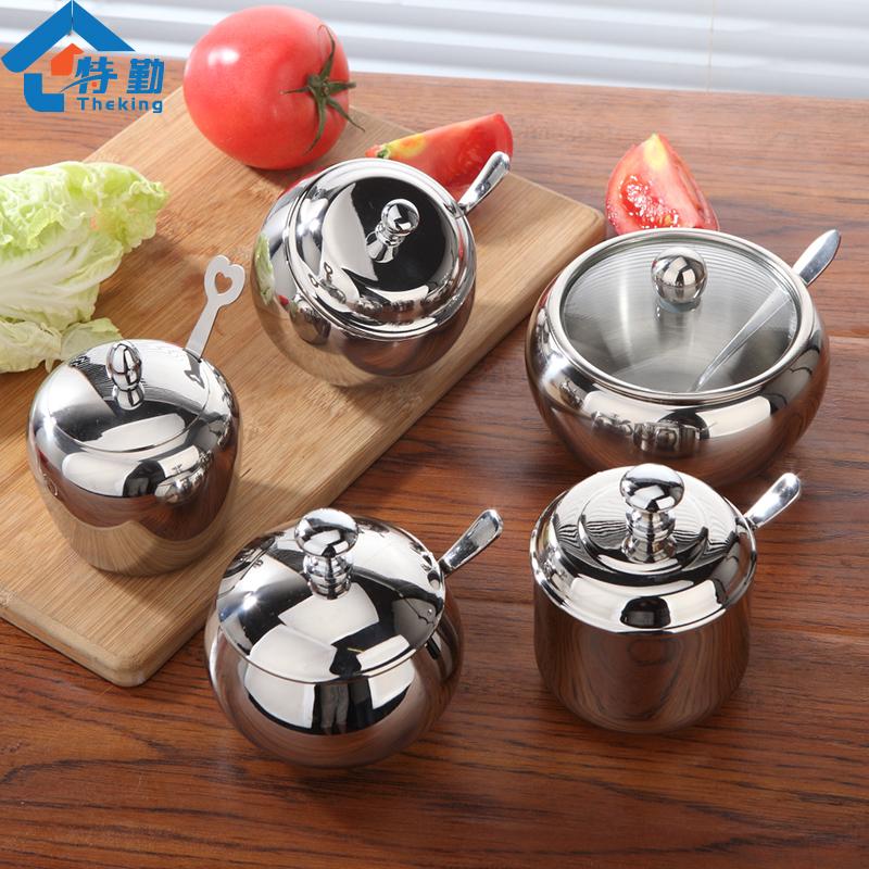 特勤 304不鏽鋼調料盒調料罐調味盒 廚房用品調味瓶調味罐套裝