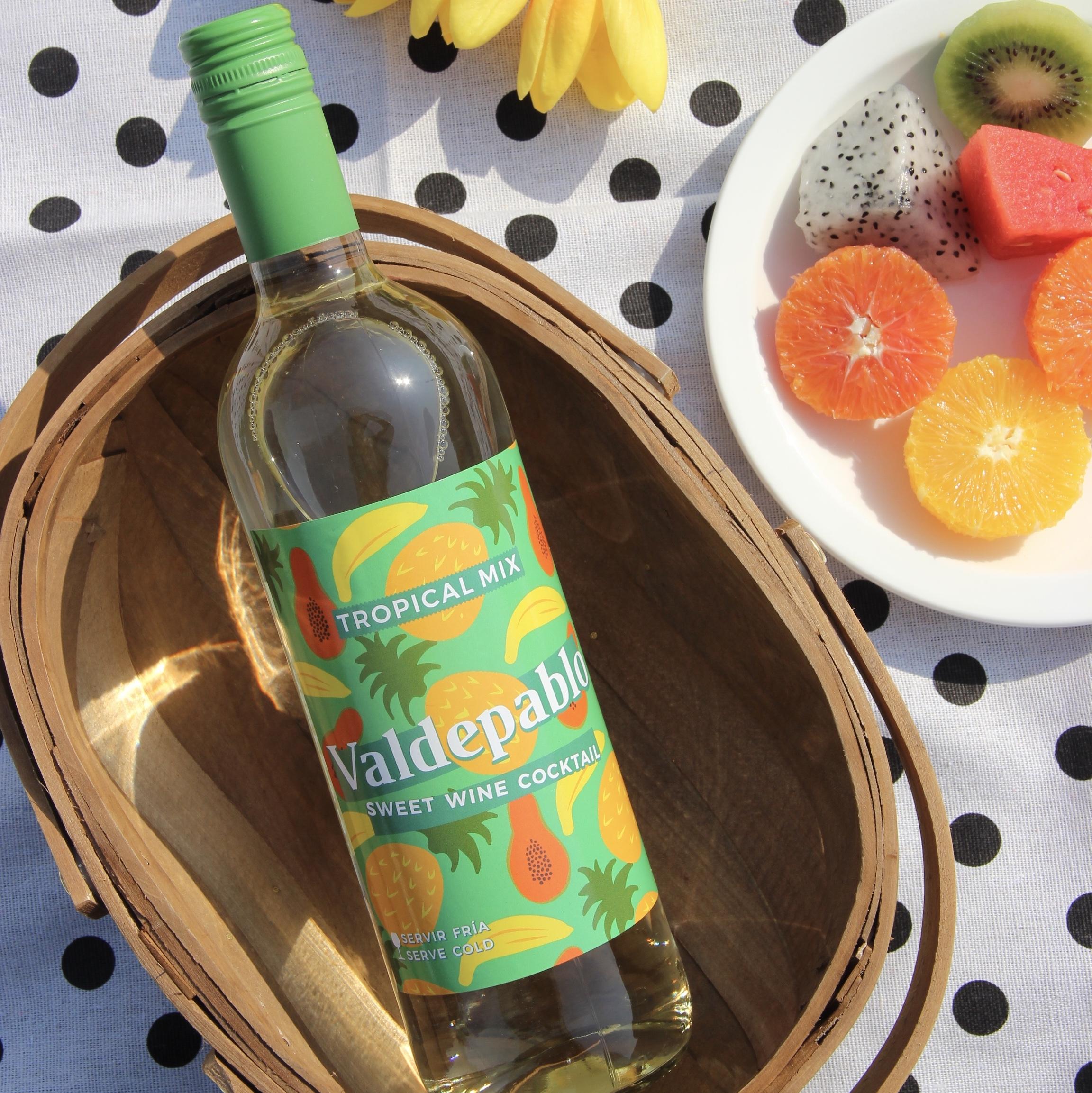 西班牙进口|热带甜心风暴甜型白葡萄鸡尾酒加冰加水果鸡尾酒