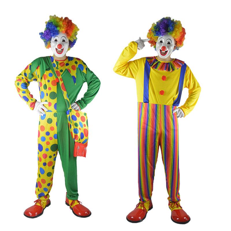 化妆舞会小丑表演服装 成人小丑服装 游戏表演小丑装小丑鞋子假发