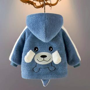 男童加绒棉衣冬季外套冬装棉袄婴儿童0一1-3岁宝宝秋冬洋气棉服潮