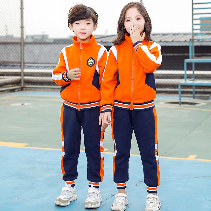 Quần áo mẫu giáo quần áo mùa xuân và mùa thu học sinh tiểu học quần áo thể thao quần áo bé trai cô gái tay dài đồng phục bóng chày trẻ em đồng phục mùa thu - Đồng phục trường học / tùy chỉnh thực hiện
