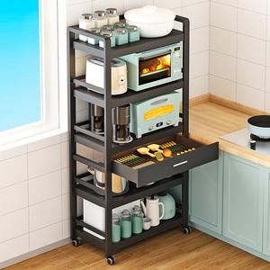 厨房落地多层不锈钢烤箱放微波炉架