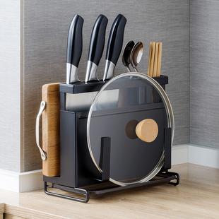 不锈钢刀架用品厨房置物架台面桌面多功能刀具砧板筷架一体收纳
