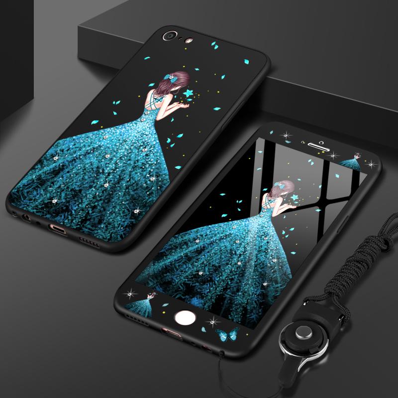 苹果8手机壳7plus全包6s女款潮iPhone7创意个性防摔8P磨砂硅胶软套韩国可爱时尚七全包边潮牌八8plus保护套