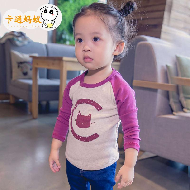 女童兒童純棉寶寶打底衫