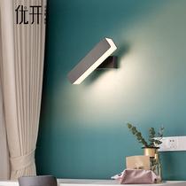 新中式壁灯实木中国风艺术卧室床头灯复古过道走廊客厅电视墙壁灯