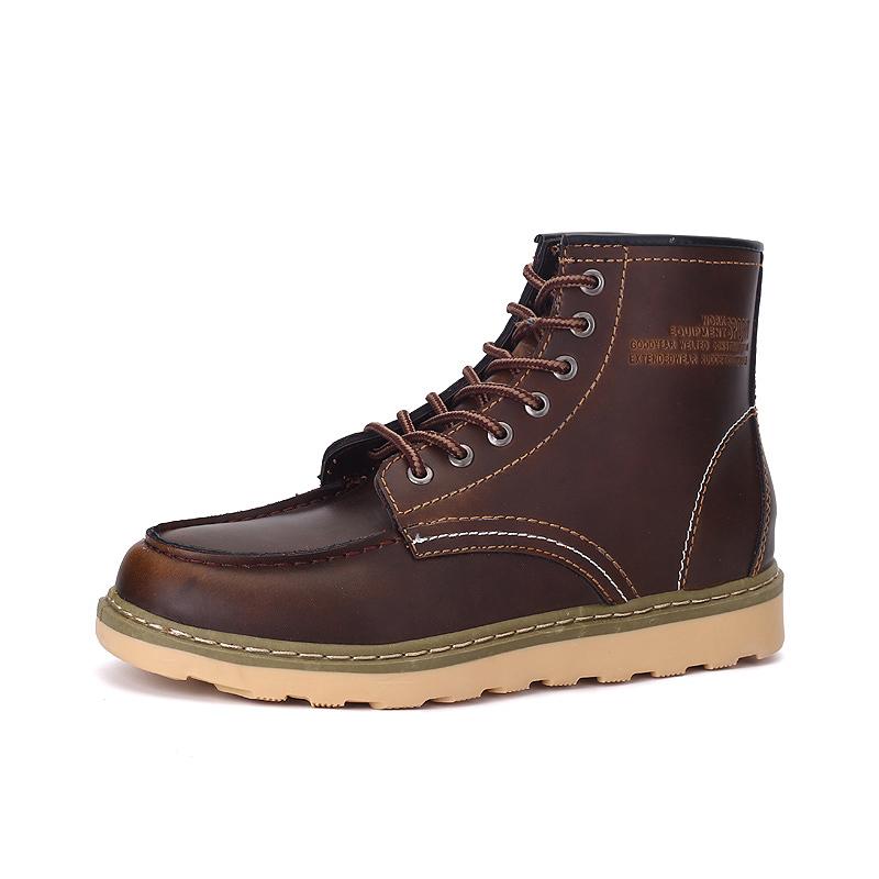 秋 英倫馬丁靴男雪地靴子男士高幫鞋男鞋工裝靴短靴沙漠靴皮靴