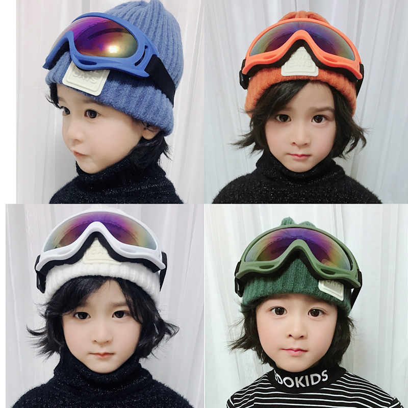Autumn / winter 2019 boys wool hat cover hat ski glasses middle school childrens warm winter hat boys and girls