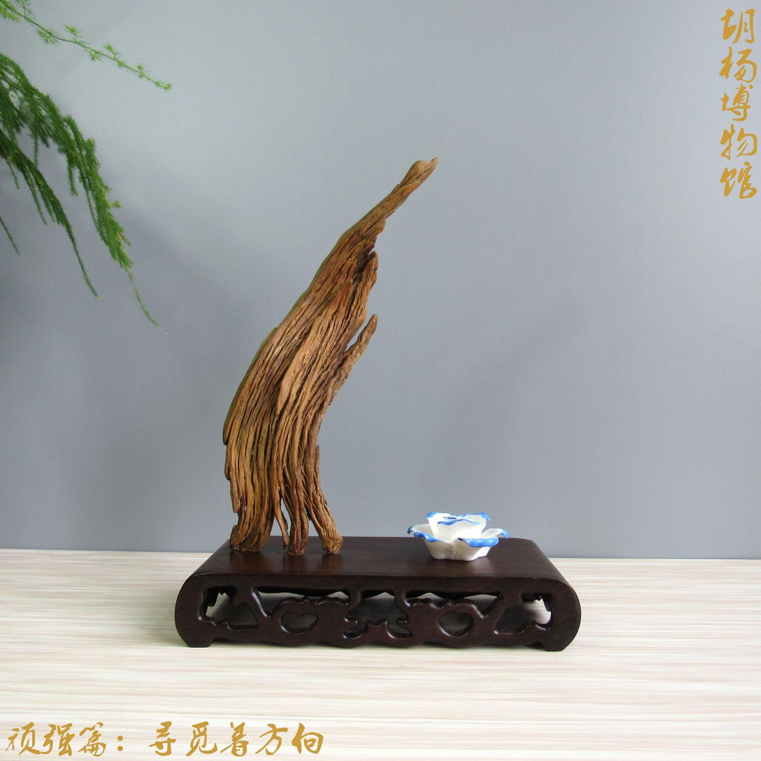 胡杨博物馆 千年胡杨枯木风化木随形摆件 家居办公室饰品高档礼品