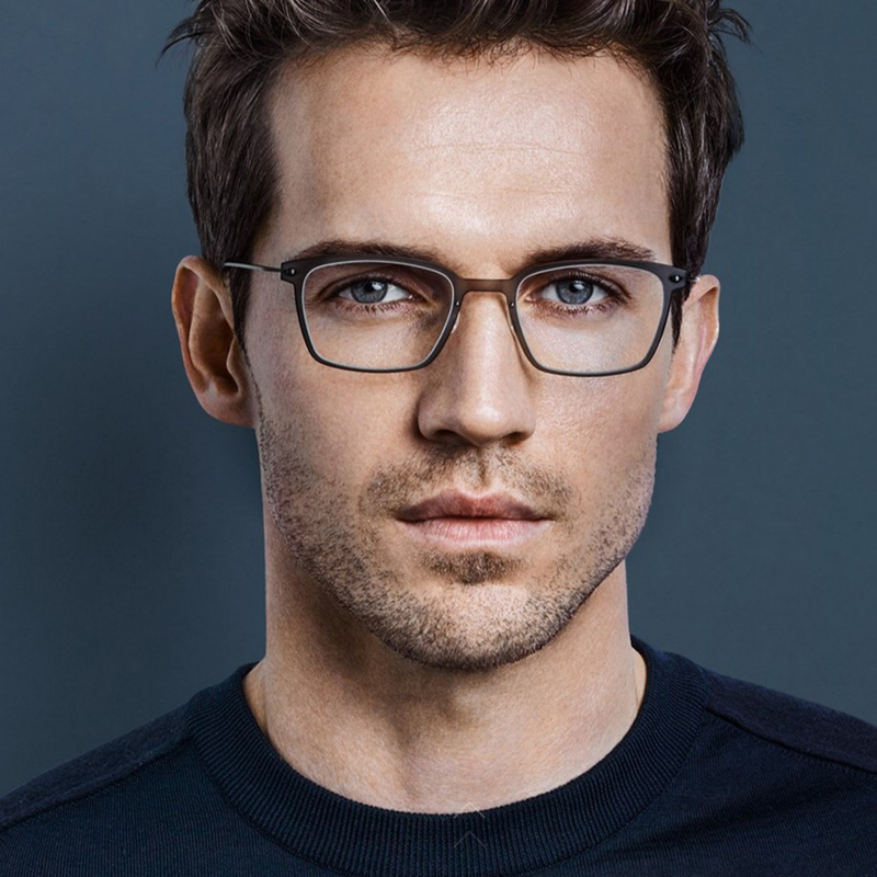 Ultra light spectacle frame transparent mens Square full frame myopia glasses womens comfort degree finished product no screw manual frame