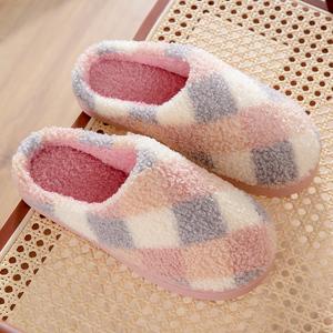 棉拖鞋女冬家用外穿室内秋冬季产后居家居保暖软底情侣毛绒月子鞋