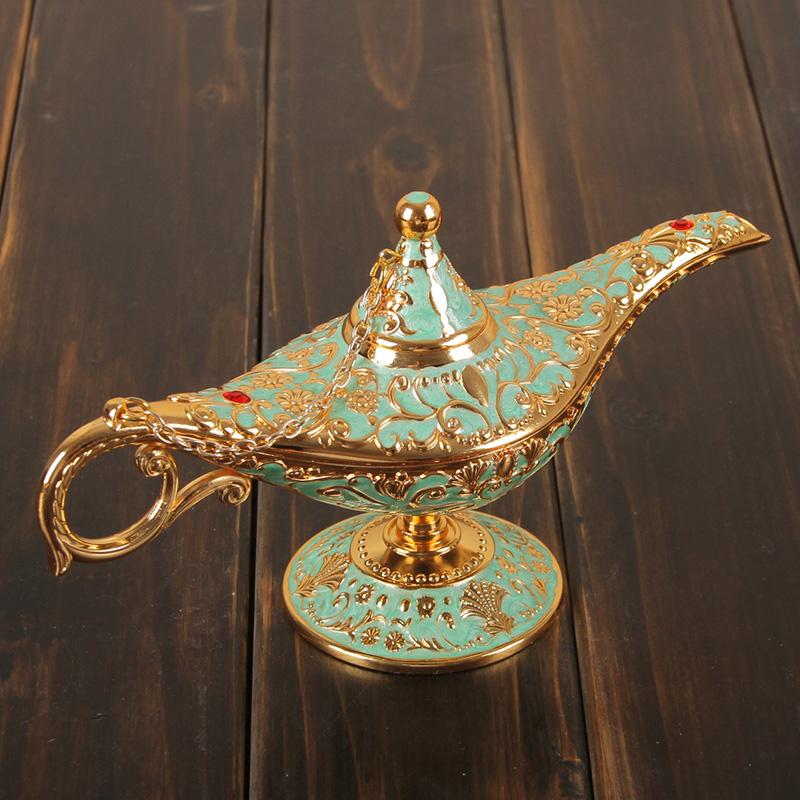 欧式家居饰品摆件合金阿拉丁神灯客厅书房静物桌面摆件生日小礼物