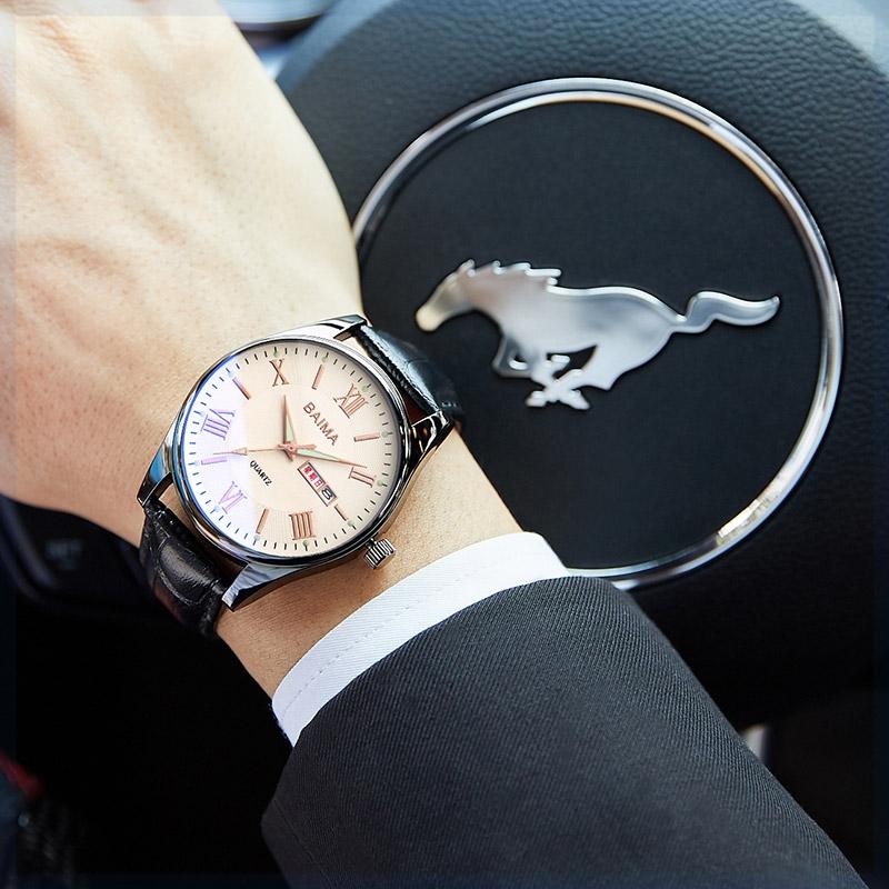 手男士防水钢带电子手表电子时尚商务表带显示腕表男表国产腕表