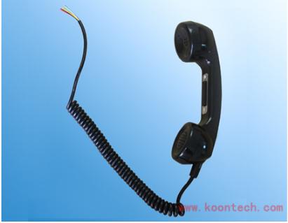 工業用電話部品ハンドルフックセルフ端末防暴円形ハンドル受話器工業用電話機ハンドル受話器
