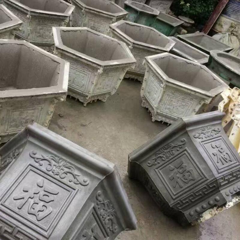 六角条形长方形四角盆景盆栽水泥制品模具厂家直销60水泥花盆模具
