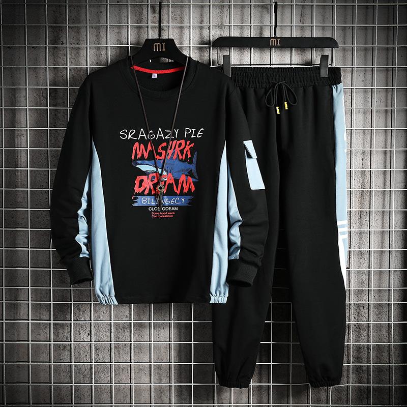 2021春季潮男青春休闲套装运动流行韩版青少年时尚男装TZ243P50
