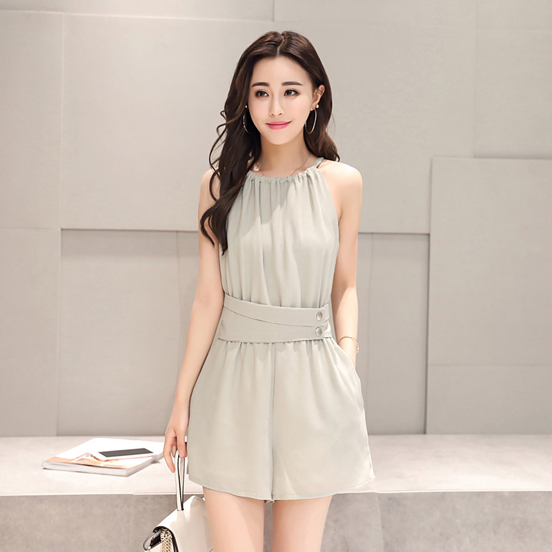 Panties and shorts elegant Korean solid dress mid waist mid length